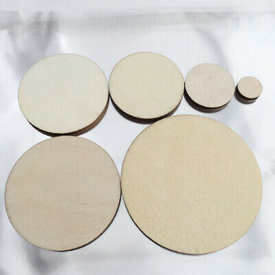 50/100 Pcs Embellishment Unfinished Wooden Round Circle Discs For Art Craft