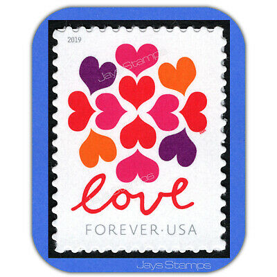 2019  LOVE  HEARTS  BLOSSOM  Forever®  MINT Single USPS Genuine Stamp # 5339