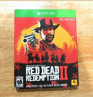 Red Dead Redemption 2 Xbox One Steelbook Edition NEW Sealed Complete HTF Rare X1
