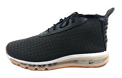 NIKE AIR MAX Woven Boot Men's Black Gum Soles Mid Top Sneakers 921854 003 Sz 10