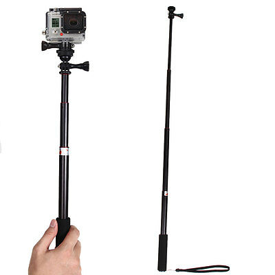 Telescoping Extendable Monopod Pole Handheld Selfie Stick Mount for GoPro Hero 3