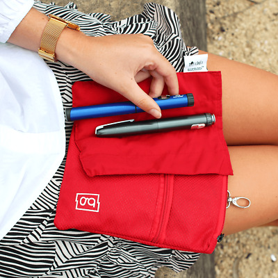 Glucology® Insulin Cooler Pouch | Extra Large 5 Pen Pouch | Red