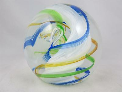 Stunning Vintage Caithness Scotland Art Glass Ribbons Paperweight - H8612S