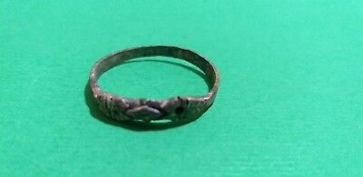 Rare Old World Ancient Silver Viking   Primitive SILVER Ring