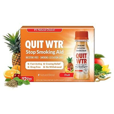 Quit Water Shot Stop Smoking Remedy to Help Quit Smoking and Curb Cravings Fast