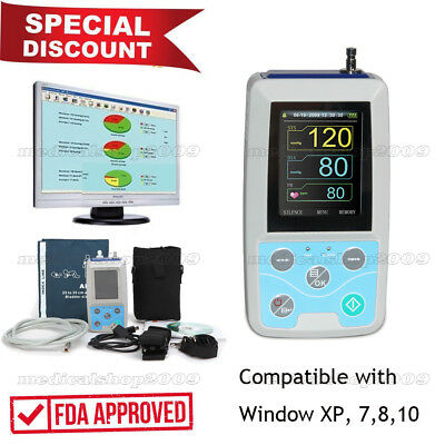 US Seller FDA Automatic Ambulatory Blood Pressure Monitor 24hrs Arm NIBP ABPM50