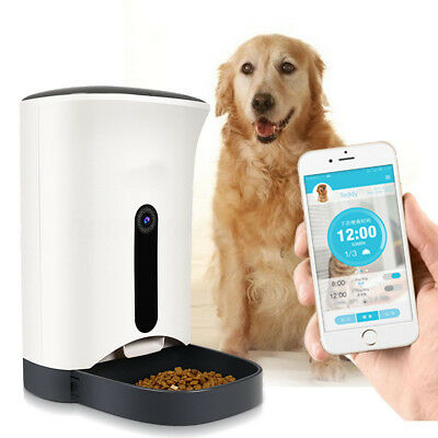 Automatic Pet Feeder for Cat Dog iOS Android App Wifi Cam Timer Food