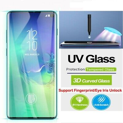 Samsung Galaxy S10 S9 S8 Plus Note9 8 Full UV 9H Tempered Glass Screen Protector