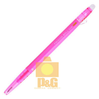 Pilot FriXion COLORS Erasable Marker Ball Slim 0.38mm Gel Pen / PINK LFBS-18UF