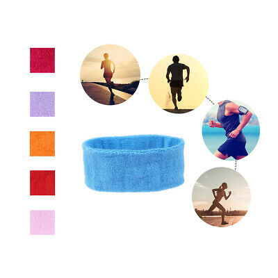 2PCS Plain Color Cotton Elastic Stretch Headband Head Hair Band Sports Yoga Gym