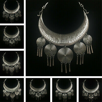 Tribal Exotic Chinese National Handmade Miao Silver DIY Pendant Necklace Gift UK