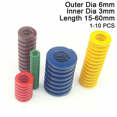 OD 6mm ID 3mm Compression Mould Die Springs Light Load Yellow Blue Green Small