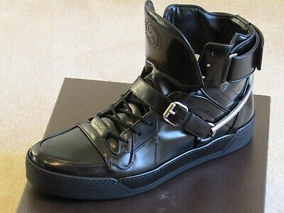 5a3abceee New Gucci Horsebit Fine Leather High Top Mens Sneakers/Shoes/Boots Sz.11G