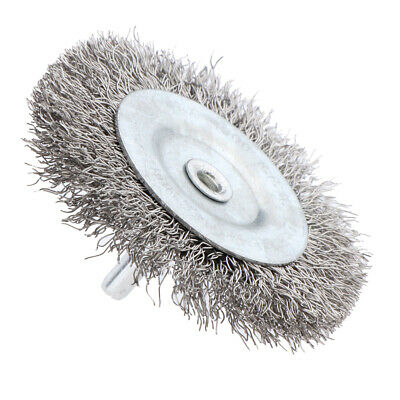 Stainless Steel Wire Wheel Brush for Metal Derusting Grind Polish 75mm 0.3mm