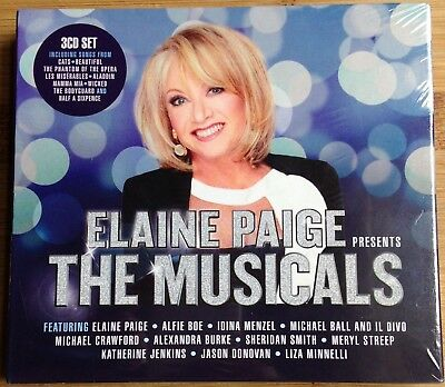 Elaine Paige Presents The Musicals 2016 Brand New Factory Sealed 3Cd Album Set