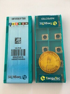 10 Inserts for Drilling Somt 070306 Dp TT9080 by Taegutec New H28564