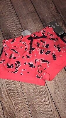 Under Armour Youth Small Coral Navy Shorts Girls NEW