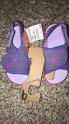 2df4df46edc9 NEW GIRLS TODDLER Nike Sunray Adjustable Pink   Purple Sandals Size ...