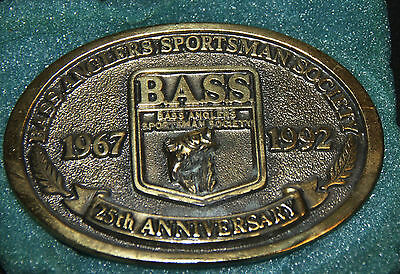 1967-1992 Bass Anglers Sportsman Society 25th Anniversary Belt Buckle