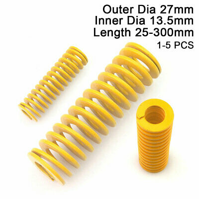 27mm OD Yellow Extra Light Load Compression Mould Die Spring 13.5mm ID All Sizes