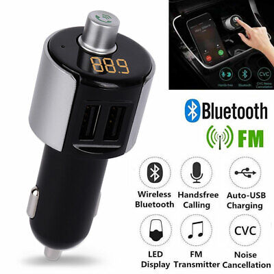 Wireless Bluetooth FM Transmitter Dual USB Car Charger MP3 Player Handsfree Call