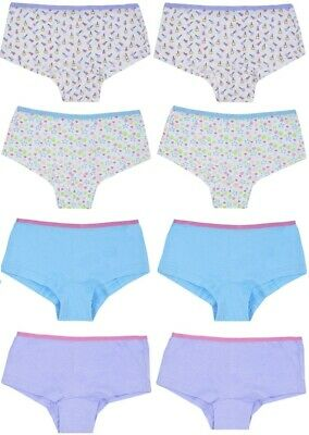 8 PAIRS Girls Kids Hipster Shorts Briefs Pants Knickers Size Age 5-12 Years