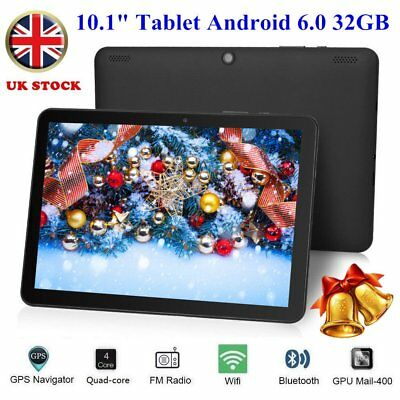 10.1 inch Android 6.0 Tablet PC HD 32GB Google Quad-core Dual Camera OTG WIFI D1