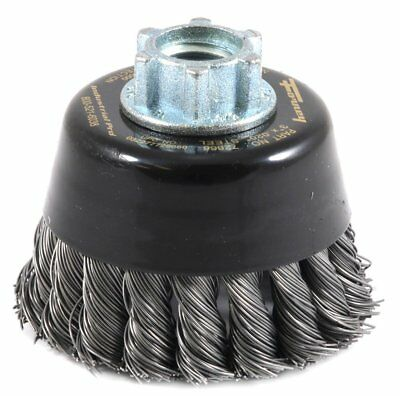 "Forney Industrial Pro 72866 3"" Twist Knot Wire Cup Brush Upc:032277728660"