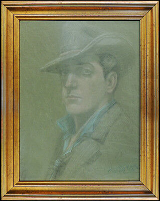 Howard Chandler Christy Original Pastel Drawing Signed Male Portrait Painting