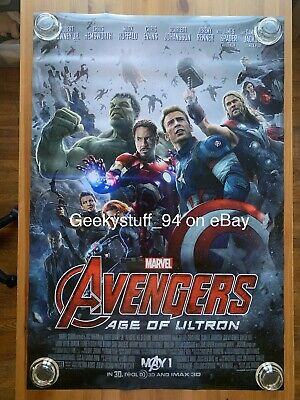 Avengers: Age Of Ultron DS Theatrical Movie Poster 27x40