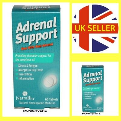 NON DROWSY FORMULA Natrabio, Adrenal Support, 60 Tablets, Homoeopathic