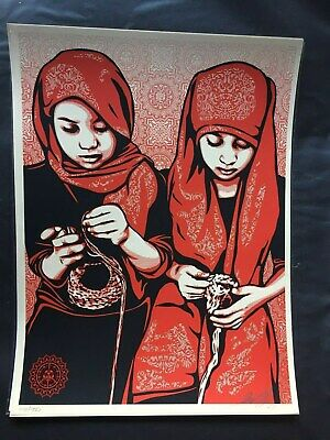Shepard Fairey - Close Knit - Obey Giant - S/N - 2009 - Rare -