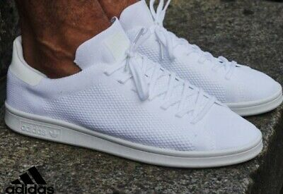 cheaper 53ddc e8ded adidas Originals Stan Smith Primeknit PK Men s Triple White sz 8.5 shoes DS