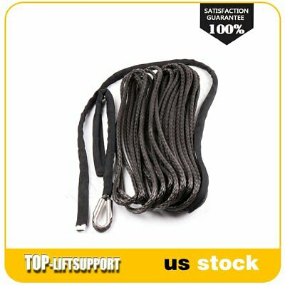 """2/5"""" x 100ft 23000LBs Synthetic Winch Line Cable Rope with Sheath ATV UTV Gray"""