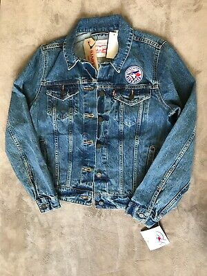 Levis Trucker Jean Jacket MLB Toronto Blue Jays Womens Size S and L NEW