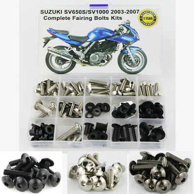 Complete Alloy Motorcycle Body Fairing Bolt Kit Body Screws For Suzuki GSF650 BANDIT 2007