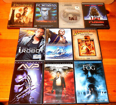 LOT OF 10 Full Screen DVD movies Horror/Fantasy/Sci-fi ~Constantine, LOTR,  Saw++