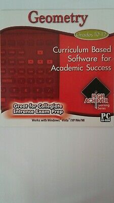 High Achiever Geometry  Great for College Entrance Exam Prep Grade10-12 PC VGC