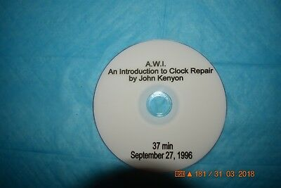 Introduction to Clock Repair by AWI Instructor John Kenyon  DVD