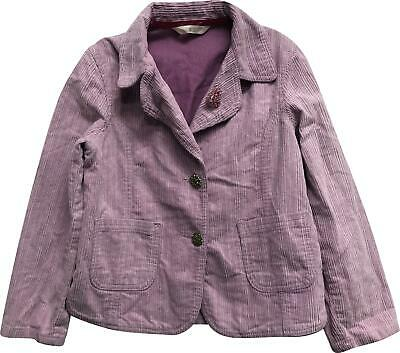 PRE-OWNED Girls Marks & Spencer Light Purple Cord Coat Age 6-7 Years KM326