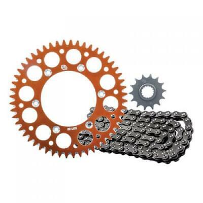 Primary Drive Alloy Kit & O-Ring Chain Orange Rear Sprocket Part #1097570250