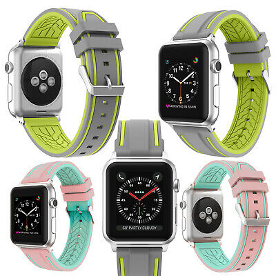 Sports Silicone Bracelet Band Strap 38/42mm For Apple Watch iWatch Series 1/2/3