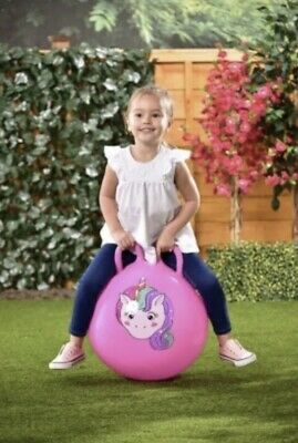 Kids Animal Unicorn Space Hopper Hop Bounce Jump Ball Fun Active Toy