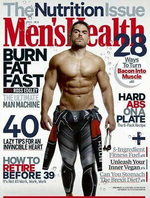 Men's Health Magazine -  April 2019 Issue - Ross Edgley - BRAND NEW - A4 Size