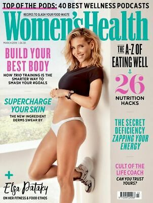 Women's Health Magazine - March 2019 Issue - Elsa Pataky - BRAND NEW - A4 Size