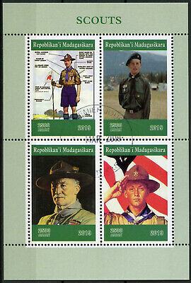 Madagascar 2019 CTO Boy Scouts Baden-Powell 4v M/S Scouting Stamps