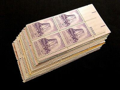 US STAMPS **GREAT** Lot of 20 Early Classic 3c Plate Blocks MINT NH OG