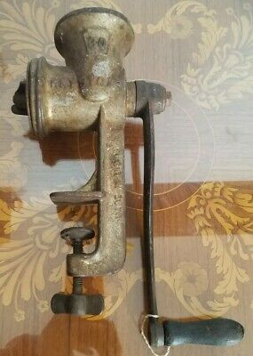 Antique Keystone # 30 Meat Grinder Chopper Hand Crank Table Top made in usa