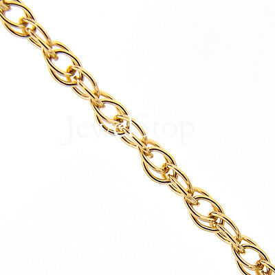 """14k Solid Yellow Gold 0.4mm Carded Milano Rope Pendant Chain 16/"""" 18/"""""""
