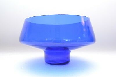 Gorgeous Blue Mid Century Vintage Scandinavian Art Glass Bowl